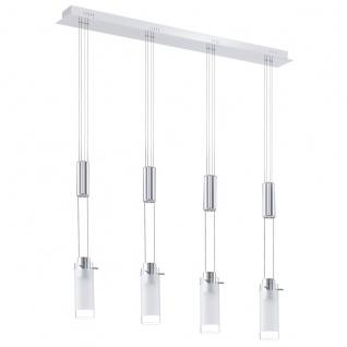 EGLO AGGIUS LED Hängeleuchte, 4-flg. chrom, satiniert/klar