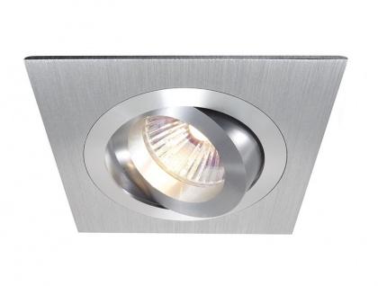 Deko Light Einbaustrahler silber, silber 1 flg. GU5, 3 / MR16 Modern