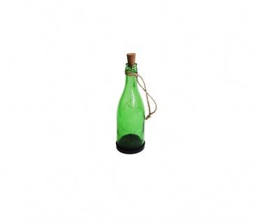 Solarlampe Glas Flasche zum Stellen oder Hängen Sommer Deko 8x24cm