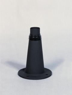 KONSTSMIDE Junior Sockel schwarz matt 24, 5cm für Konstsmide Leuchten