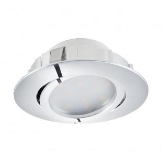 EGLO PINEDA LED Einbauspot Ø84, 1-flg., chrom
