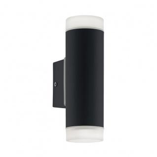 EGLO RIGA LED Außen Wandleuchte GU10, IP44 schwarz