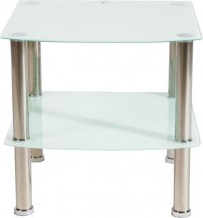bhp Glasregal , 5mm Glas, weiß lackiert 38mm rostfreies Stahlrohr, Stärke: 0, 3mm
