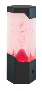 Rabalux Cillian LED Dekoleuchte mit Vulkanoeffekt und USB-Kabel, schwarz