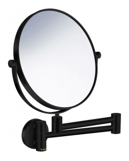 Smedbo Outline Kosmetikspiegel 2x fach schwenkbar schwarz FB438