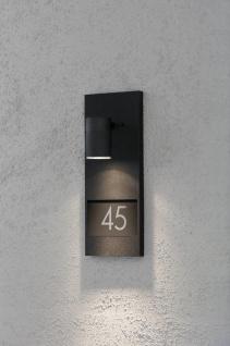 KONSTSMIDE Modena Wandleuchte mit Hausnummern schwarz