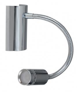 Luce Design Kepler LED Wandleuchte chrom 100lm 3000K 11x13x20, 5cm mit Schalter