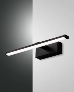 LED Spiegellampe schwarz satiniert Fabas Luce Nala 540lm IP44