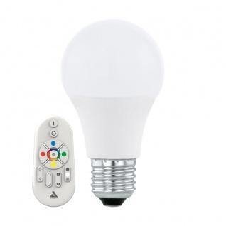 EGLO Connect E27 RGB LED Leuchtmittel 9W 806lm 2700-6500K inkl. Fernbedienung u. per App