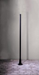 KONSTSMIDE Pegasus Kandelaber Pfahl schwarz matt 1, 87m für Konstsmide Leuchten