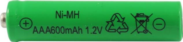 Akku für Solarlampen AAA 1, 2V Ni-Mh von Globo