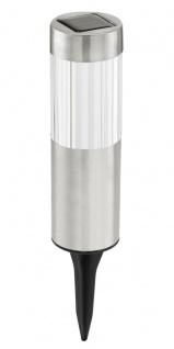 EGLO LED Solarleuchte mit Erdspieß Edelstahl Klar 65x205mm