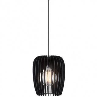 Holzlamellen Hängelampe schwarz Nordlux Tribeca 24 mit E27 Fassung