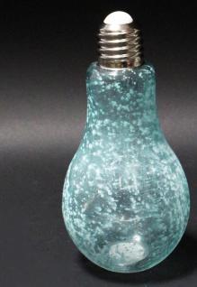 Deko Glühbirne Glas zum Stellen und Hängen gefrostetes Glas Batteriebetr. 11x23cm