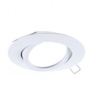 EGLO TEDO Einbaurahmen 80mm weiß GU10 / MR16 GU5.3 ohne Fassung