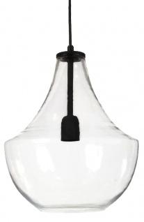 Hochwertige Pendelleuchte aus Glas klar schwarz PR Home Hamilton 30x38cm E27 dimmbar