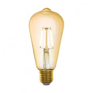 EGLO LED Leuchtmittel E27 ST64 5, 5W 500lm 2200K 320° amber App Steuerbar 64x142mm