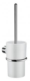Smedbo Art WC-Bürste mit weissen Porzellan Glas WK333P