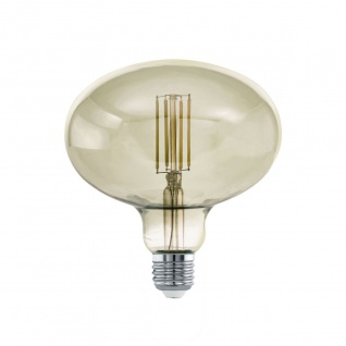 EGLO LED Leuchtmittel E27 R140 4W 380lm 3000K 340° schwarz-transparent dimmbar 140x152mm