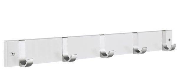 Smedbo Hakenleiste Holz/Aluminium 5 Fach weiss BX1076