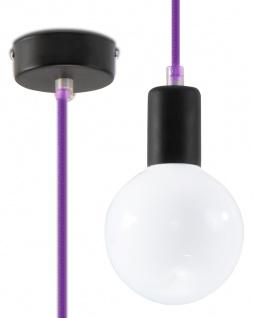 Sollux EDISON Pendelaufhang lila 1-flg. E27