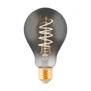 EGLO LED Leuchtmittel E27 A75 4W 100lm 2000K 300° schwarz-transparent dimmbar 75x130mm