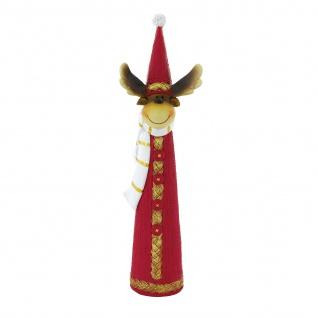 Weihnachtsrentier mit Zipfelmütze 25, 0cm