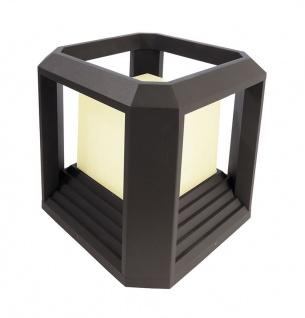 Deko Light Bootis II Sockelleuchte für Außen LED dunkelgrau IP65 1100lm 3000K >80 Ra 360° Modern