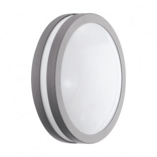EGLO Connect LOCANA-C LED Wand u. Deckenleuchte außen silber IP44 App Steuerbar