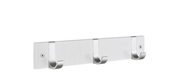 Smedbo Hakenleiste Holz/Aluminium 3 Fach weiss BX1075