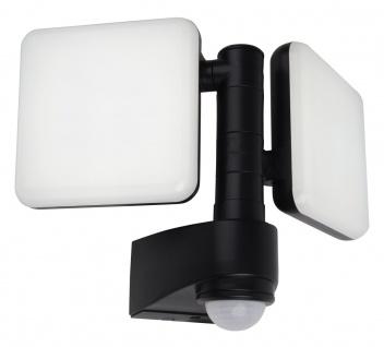 LED Außenstrahler anthrazit Näve 1600lm 4000K 2 flg. IP54 Bewegungsmelder