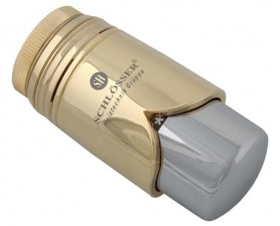 Schlösser Thermostatkopf Brilliant M30 x 1, 5 Heimeier gold/chrome 6002 00009