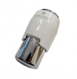Schlösser Thermostatkopf Brilliant Plus M30 x 1, 5 Heimeier weiss-chrom 6006 00006
