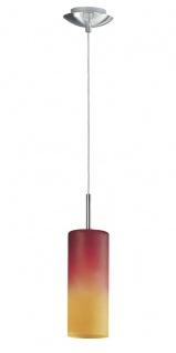 EGLO TROY 1 Hängeleuchte E27 nickel-matt, rot/orange