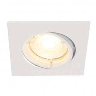 LED Einbauleuchte weiß Nordlux Dorado 3er Set a 345lm 2700K dimmbar eckig