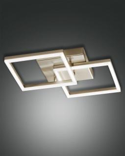 LED Deckenlampe gold edelmatt Fabas Luce Bard 3510lm 450mm dimmbar