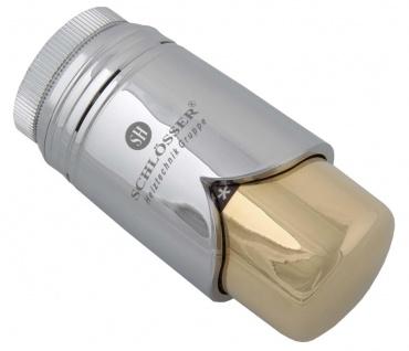 Schlösser Thermostatkopf Brilliant M30 x 1, 5 Heimeier chrom/gold 6002 00010