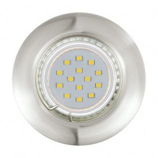 EGLO PENETO LED-Einbauleuchte 3er Set, starr, GU10 nickel-matt