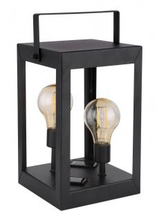LED Solar Laterne mit 2x Edison Leuchtmittel schwarz amber LBH 14x14x28cm von Globo