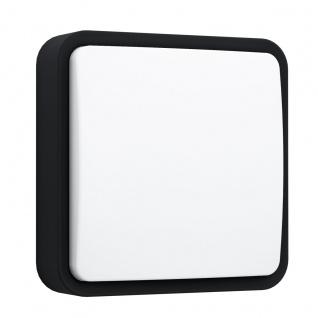EGLO Connect PIOVE-C LED Wand u. Deckenleuchte außen schwarz IP44 App Steuerbar