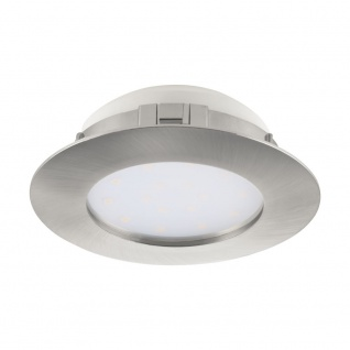 LED Einbauspot EGLO PINEDA 102mm nickel-matt dimmbar