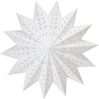 Weihnachtsstern aus Papier weiß von PR Home 50cm