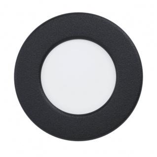 EGLO FUEVA 5 LED Einbauleuchte schwarz rund 86mm 360lm 4000K