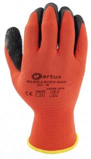 Artus Arbeitshandschuhe Montage-Strickhandschuh PU 13G Artus Silko red, 12er Pack, Schutzhandschuh, EN388:2016-2121X, Größe 9 / M - Vorschau 2