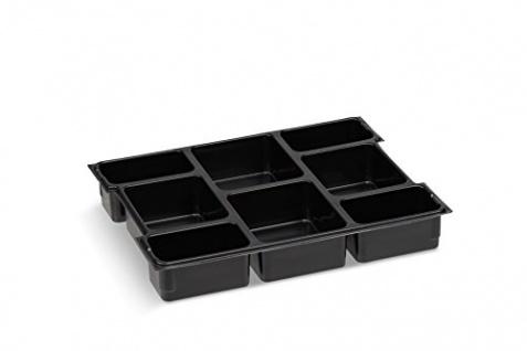 Sortimentskasten Einsatzboxen | Bosch Sortimo L-BOXX 102 Insetbox 8-fach | Erstklassige Sortierboxen für Kleinteile | Schrauben Sortierkasten