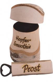 Bier - Set Krug 2-teilig, 0, 25 Liter, ca. 17 cm, aus Birkenholz