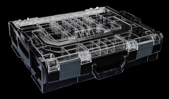 Bosch - Sortimo Sortimentskasten L BOXX 102 schwarz Deckel transparent