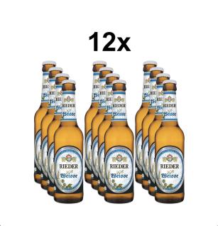 Rieder Bier Helle Weiße 12x 0, 33l Karton