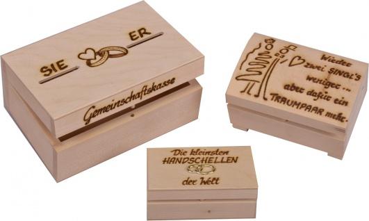 Hochzeit-Kassetten-SET (3-tlg.), 17x10 und 12 x 8 cm