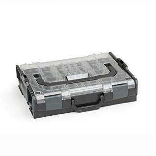 Sortimo Bosch L-BOXX 102 Kunststoff Werkzeugkoffer schwarz Deckel transparent leer Sortierbox für Kleinteile | ideale Schraubenaufbewahrung System